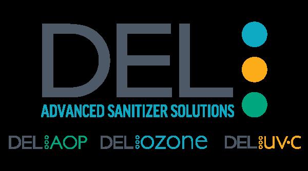 del ozone, del aop and del uv-c logos