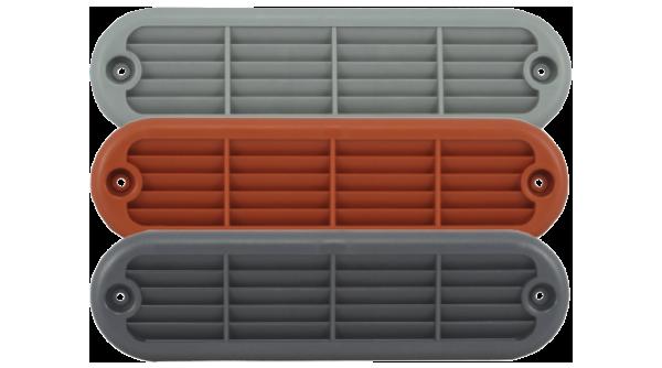 spa vent in gray brown graphite