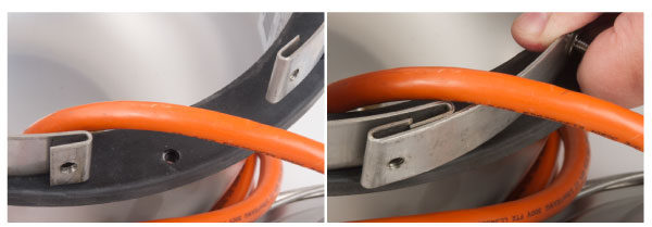 Complete the repair without removing the light cord.