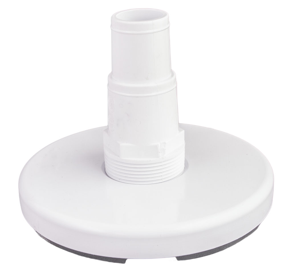 "<b> Skimmer <br> Vacuum Plate </b> <br> 1.5"" x 1.5"" x 1-1/4"""