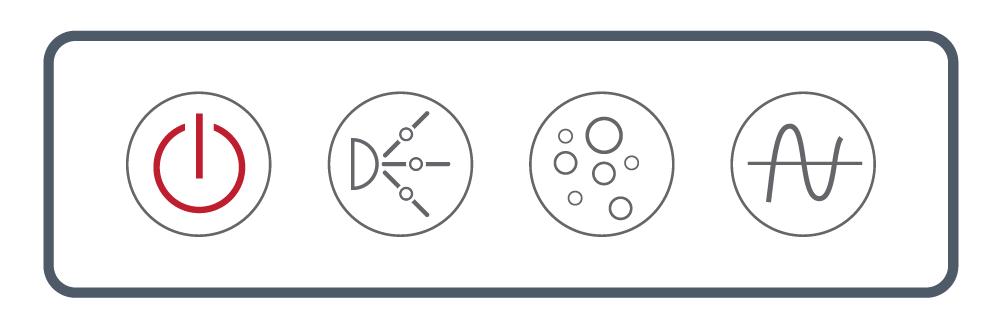<b> NEXXUS™</b><br> Touch Series: Four Button <br> (Power, Pump, Blower, Wave/ Pulse)