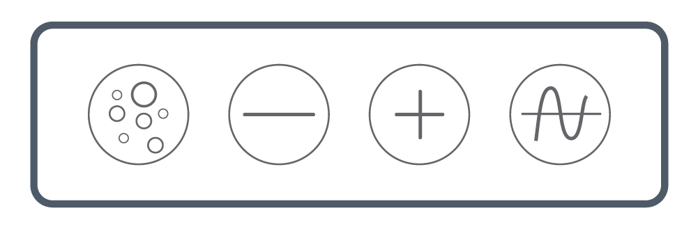 <b> NEXXUS™</b><br> Touch Series: Four Button <br> (Blower, Minus, Plus, & Wave/ Pulse)