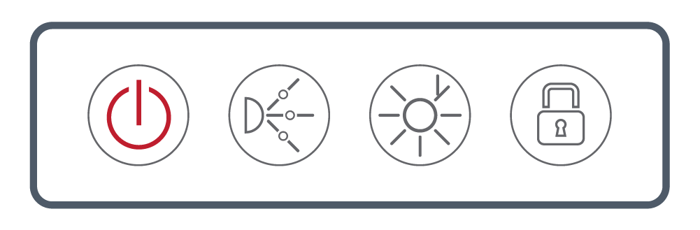 <b> NEXXUS™</b><br> Touch Series: Four Button <br> (Power, Pump, Light, Lock)
