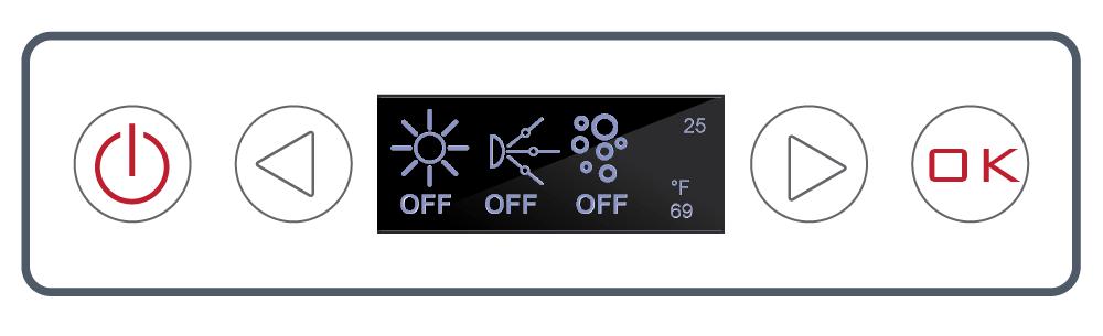 <b> NEXXUS™ Controls </b><br> LCD Four Button