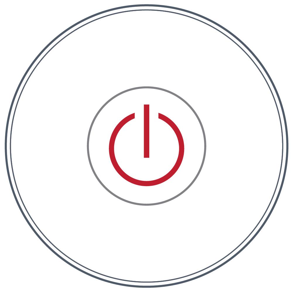 <b> NEXXUS™</b><br>Touch Series: Round/ Single Button<br> (Power)