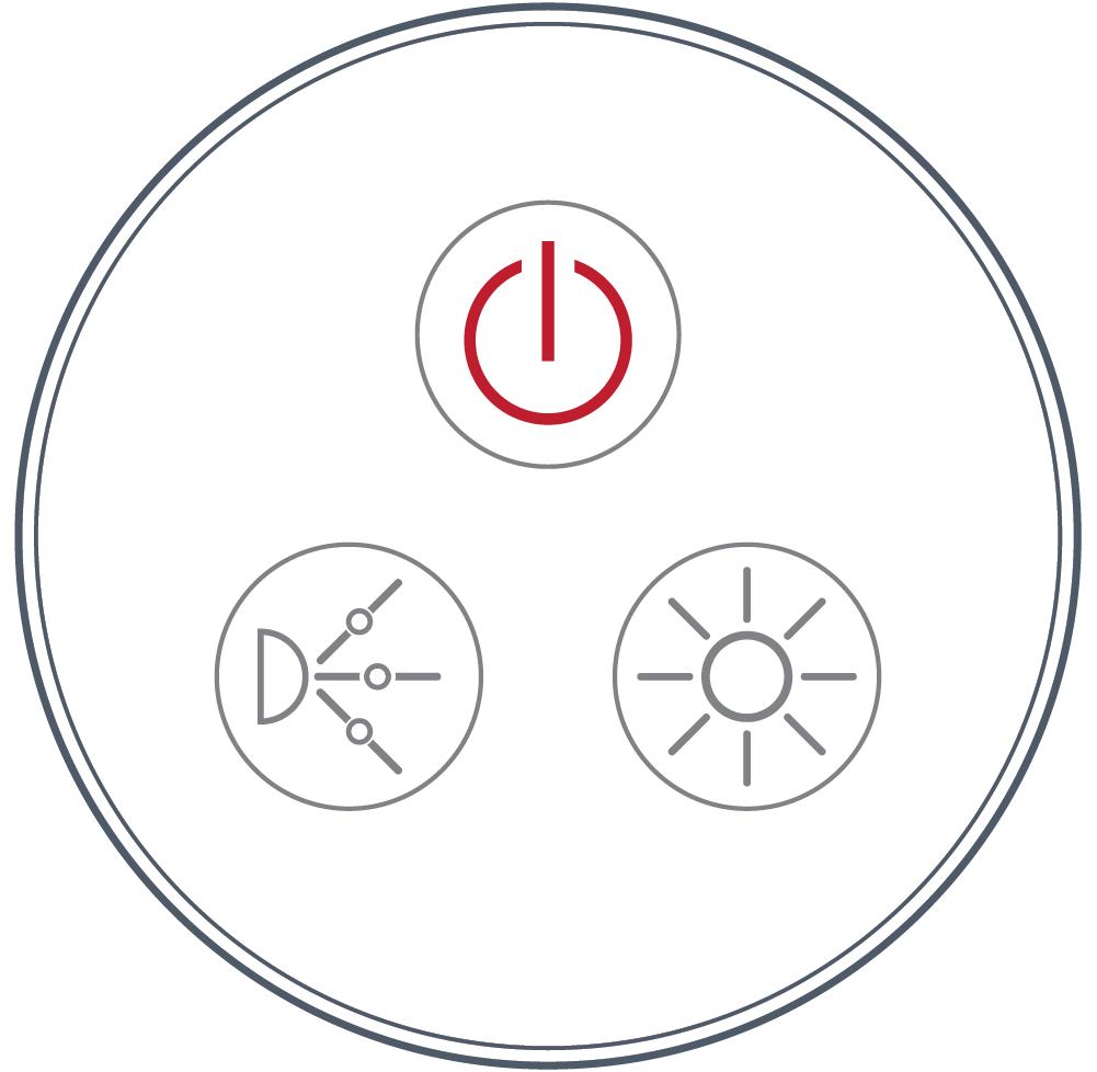 <b> NEXXUS™</b><br> Touch Series: Round/ Three Button <br> (Power, Pump, Light)
