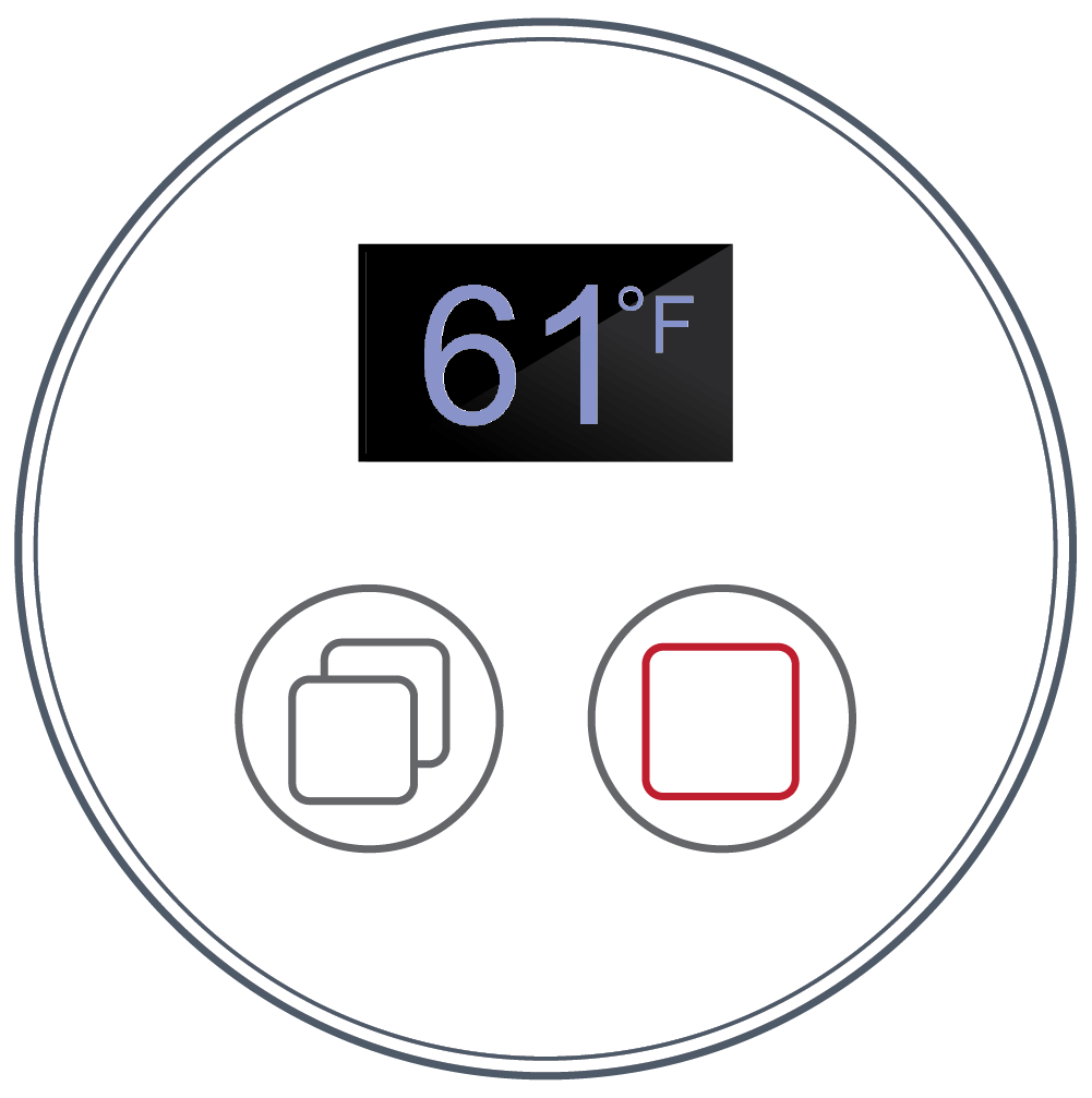 <b> NEXXUS™ Controls </b><br> LCD Two Button